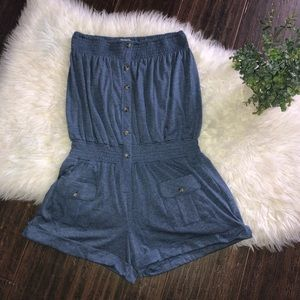 Anthropologie Mine One Piece Jumper Shorts Size L